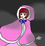 Cloaked Hime In Foggy Night by sydneypie