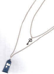 tardis with key necklace by DalloftheABOVE