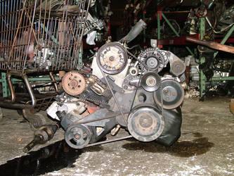 Junk yard - motor 2 by JensStockCollection