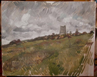 hadleigh castle sketch by benlovesit123