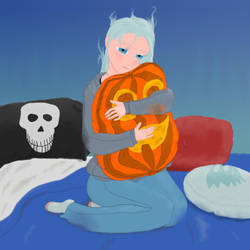 Sleepy Ghost Girl by RavenPencil