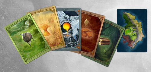 Settlers of Catan Custom Resource Cards by DraconicParagon
