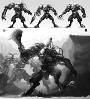 Cyborg zombies final by AltoContrasteStudio