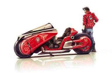 Kaneda's bike Tribute by AltoContrasteStudio