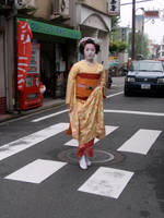 Geisha Keeping an Appointment by wydelode