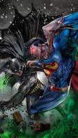Batman vs Superman by uncannyknack