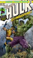 Hulk vs Wolverine WIP by uncannyknack