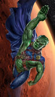 Martian Manhunter WIP by uncannyknack