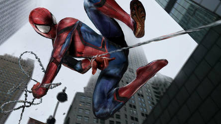 Civil War Spiderman WIP by uncannyknack