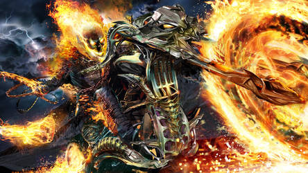 Ghost Rider WIP by uncannyknack