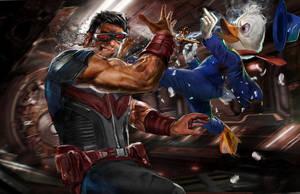 Howard the Duck vs. Wonderman by uncannyknack