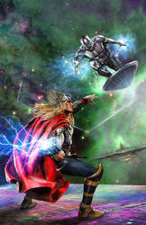 Thor vs Surfer by uncannyknack