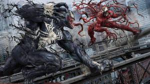 Venom Vs Carnage WIP by uncannyknack