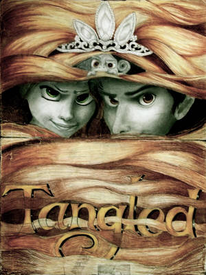 Tangled - Rapunzel, Eugene, Pascal and the Crown by x12Rapunzelx