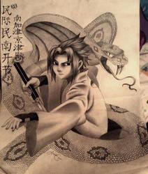 Sasuke Uchiha  by x12Rapunzelx