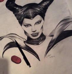 Maleficent { Angelina Jolie } by x12Rapunzelx