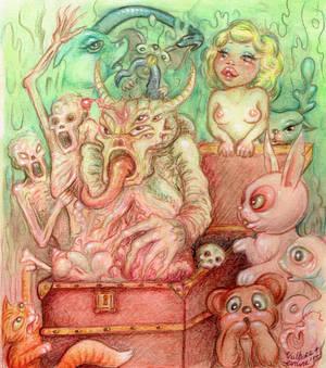 Pandora's Pyama  Party by EvilineMoonflesh