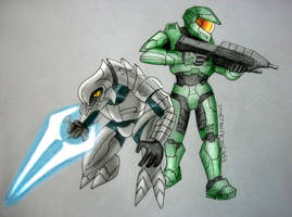 Master Chief and the Arbiter by SpartanB214