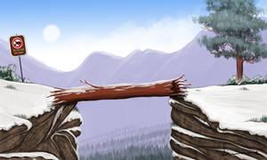 Log Over Chasm by Louisetheanimator