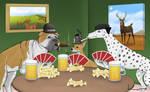 Gambling Dogs by Louisetheanimator