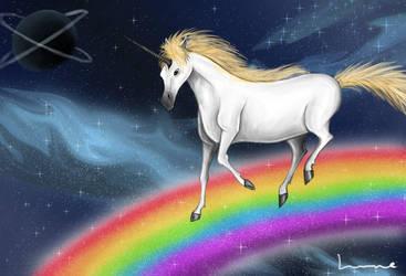 Space Unicorn by Louisetheanimator