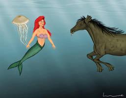 Ariel meets a Kelpie by Louisetheanimator