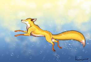 Golden Fox by Louisetheanimator