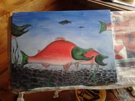 Sockeye Salmon by Louisetheanimator