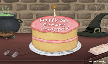 Happy 38th Birthday Harry Potter! by Louisetheanimator
