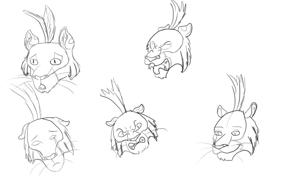 Claw's Expression Sheet by Louisetheanimator