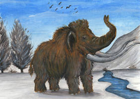 Woolly Mammoth Calling by Louisetheanimator