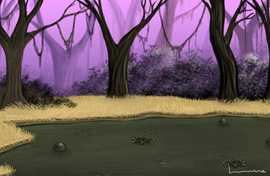 Tar Pit in the Jungle by Louisetheanimator