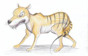 Thylacine - Gerald Scarfe Style by Louisetheanimator