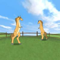 Quoglyburg Horses by Louisetheanimator