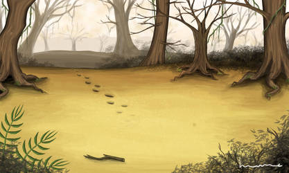 Quicksand in the Forest by Louisetheanimator