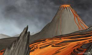 Lava and Volcano by Louisetheanimator