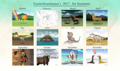 2017 Art Summary by Louisetheanimator