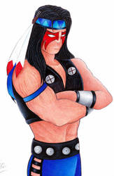 NightWolf from MK Commission by StephanieChateau