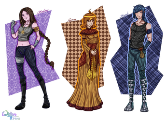 Characters 2 (Future Series) by lWeffer-Artl