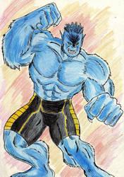 New Beast X Men by Sansomon