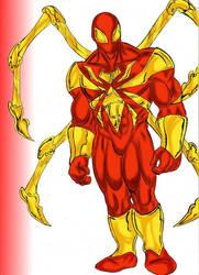Red Spider Man by Sansomon