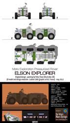 Mars pressurized rover - Elson Explorer by Ludo38