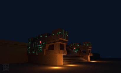 Quetzalcoatl escalera by Ludo38