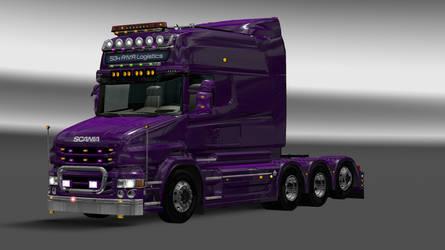 Purple Scania T - Heavy Haul by dctoe