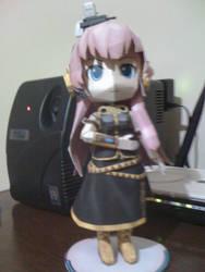 Megurine Luka chibi from Vocaloid papercraft by RoronoaZoro666