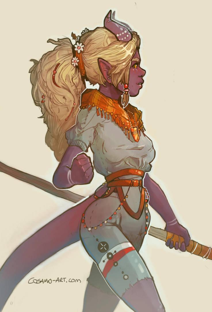 Ara: The Teifling Druid by cosamo