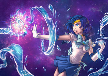 Sailor Mercury - Commission gift by TheRufo