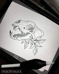 Cat skull by Inkbymax