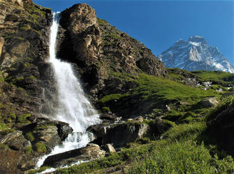 Waterfall and Matterhorn by Nini1996