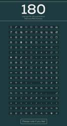 Ui/UX Free 180 Icons by nasirktk